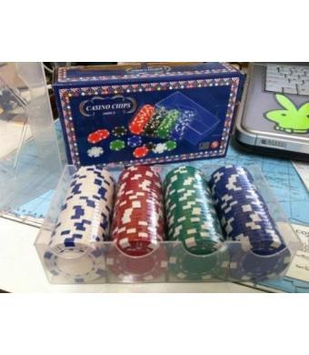 CHH Poker Casino Dice Style Chips 100pc Set 11.5 Gram