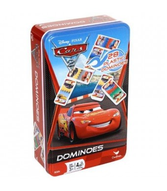 CelebrateExpress Disney Pixar Cars 2 Dominoes Game Set In Metal Tin