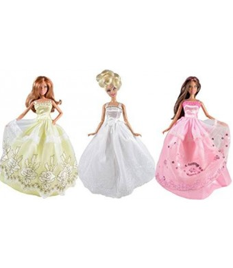 Simply Exquisite Dresses for Barbie - The Royal Wedding Collection (3 Dress Set) DOLLS NOT INCLUDED