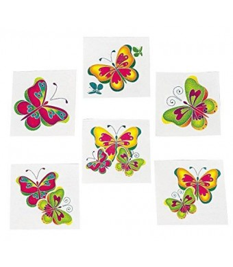 FE Kids Temporary Butterfly Tattoos - 72