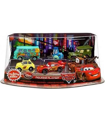 Mattel Disney / Pixar CARS Movie Exclusive PVC Figurine Playset Lightning McQueen Pit Crew Includes Luigi, Guido, McQueen, Mater, Sarge Filmore