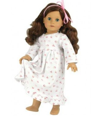 Sophia's Dolls Nightgown fits American Girl Dolls, Print Knit Nightgown for 18 Inch Dolls