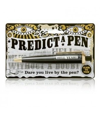 Natural Predict A Pen Novelty Gadget Office Toy Gift Black Spin Message Prediction 8ball