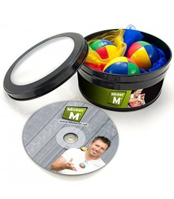 MrM Productions 3 Balls + 3 Scarves + Instructional DVD...... The ULTIMATE Juggling Set