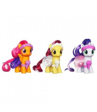Hasbro My Little Pony, Wedding Flower Fillies Set, Sweetie Belle, Apple Bloom, and Scootaloo, 3-Pack