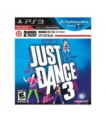 Just Dance 3 with EXCLUSIVE BONUS TRACKS by Rihanna and B.o.B (PlayStation Move Required)