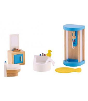 Hape - Happy Family Doll House - Furniture - Family Bathroom