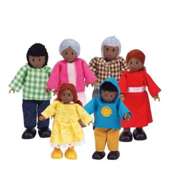 Hape - Happy Family Doll House - Doll Family - African American