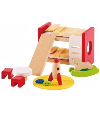 Hape - Happy Family Doll House Furniture - Children's Room