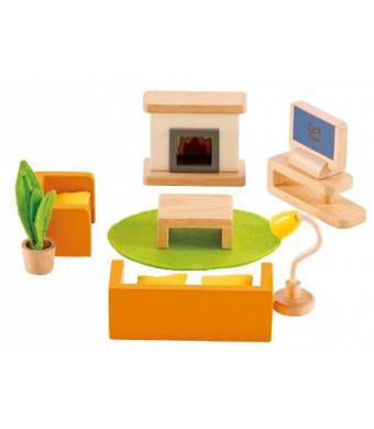 Hape - Happy Family Doll House - Furniture - Media Room