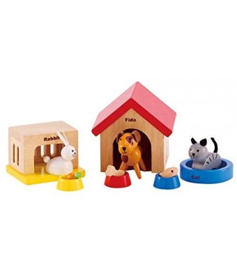 Hape - Happy Family Doll House - Family Pets