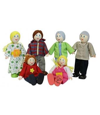 Hape - Happy Family Doll House - Caucasian Doll Family