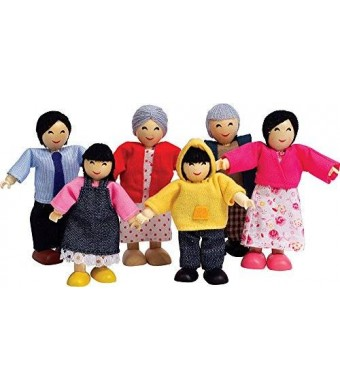 Hape E3502 Happy Family Doll House Asian Doll