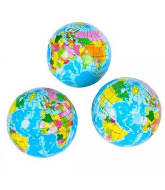 """Rhode Island Novelty 3"""" Squeeze Globe (1 DOZEN) - BULK"""
