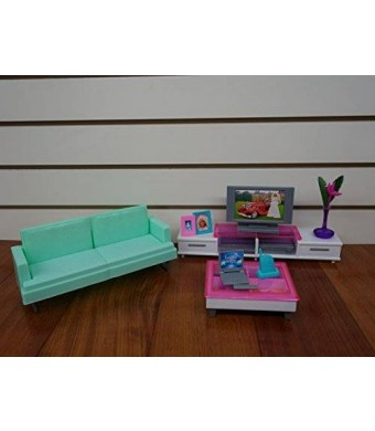 zfinding Barbie Size Dollhouse Furniture- Family Room