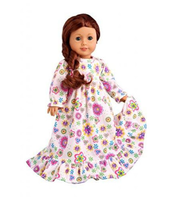 DreamWorld Collections Good Night - Cotton nightgown - Doll Clothes for 18 Inch Dolls
