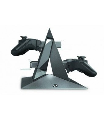 Konnet PS3 Only Power Pyramid RCS series Charger, Charging and Storage Dock for FOUR Game Controllers - Black
