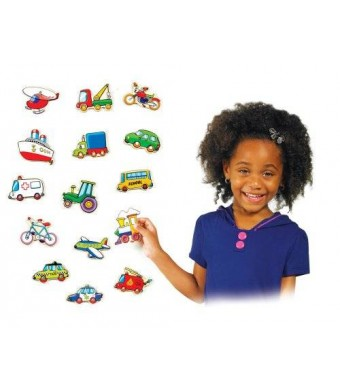 Ryans Room Small World Toys Ryan's Room Wooden Toys -Stick Em Magnets - Vehicles