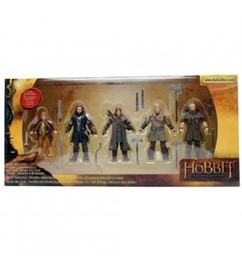 "The Bridge Direct Hobbit Hero Pack - Bilbo, Thorin, Dwalin, Kili and Fili 3.75"" Figure Box Set"