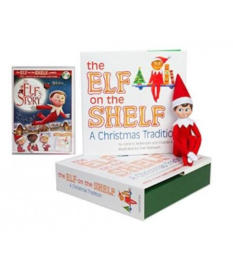 The Elf on the Shelf: A Christmas Tradition with North Pole Blue Eyed Boy Elf with Bonus DVD