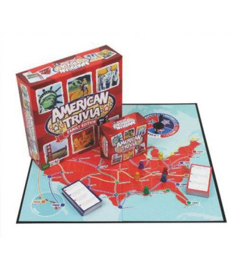 Outset Media Trivia Game - American Trivia Family Edition Board Game (Ages 9+)