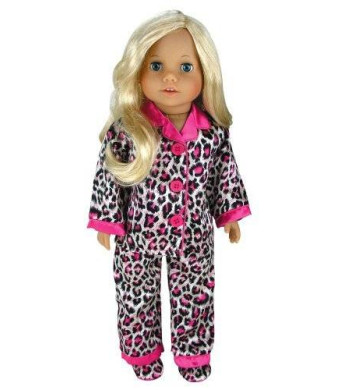 Sophia's 18 Inch Doll Clothes Pajama Set and Doll Slippers