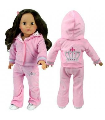 Sophia's 18 Inch Doll Sweatsuit with Crown Details