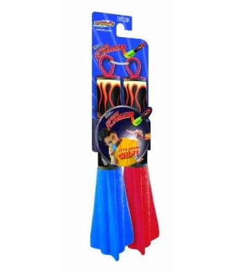 GeoSpace Pump Rocket Finger Flingers - Set of 2 Flying Foam Rockets