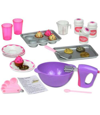 Sophia's 18 Inch Doll Baking Set of 26 Pcs. Fits American Girl Doll Furniture, 18 Inch Doll Cookware Set