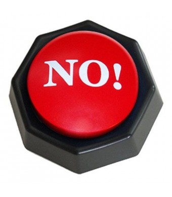 ZANY TOYS LLC The NO! Button-Electronic Voice Toy Gag Gift-10 Different Versions of No