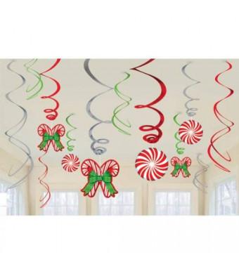 Shindigz Candy Cane Value Pack Hanging Swirls