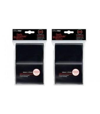 Ultra Pro (200) Ultra-Pro Black Deck Protector Sleeves 2-Packs - Standard Magic the Gathering size