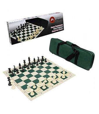 Wholesale Chess Heavy Tournament Triple Weighted Chess Set Combo - Forest Green