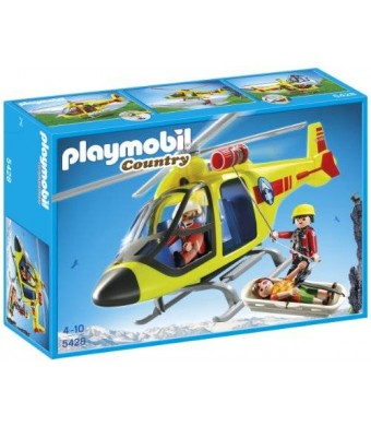 PLAYMOBIL Mountain Rescue Helicopter Playset