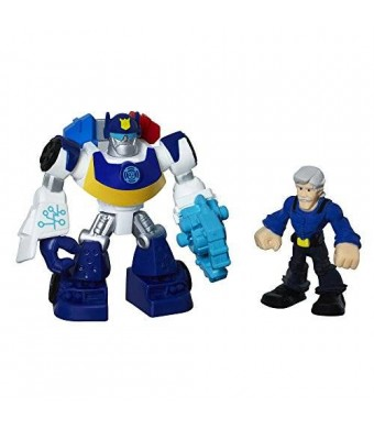 Playskool Heroes Transformers Rescue Bots Chase The Police-Bot and Chief Charlie Burns