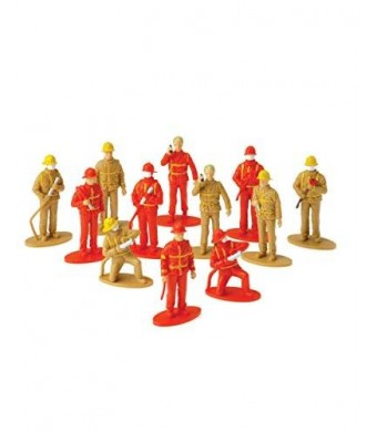 US Toy Firefighter Figurines (12 Pack)