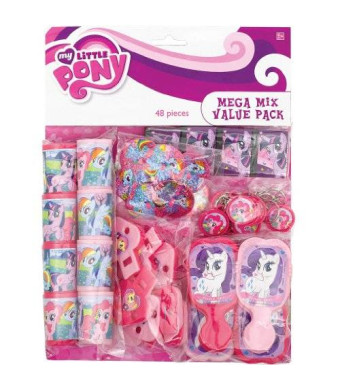 Amscan My Little Pony Mega Mix Value Favor Pack (48) Pieces Birthday Party Supply