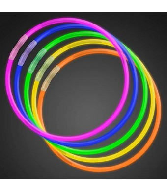 "FlashingBlinkyLights 50 22"" Premium Glow Stick Necklaces Assorted Colors Glowsticks"