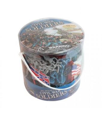 SCS Direct Civil War Army Men Action Figures - Big Bucket of Civil War Soldiers - Over 100 Piece Set