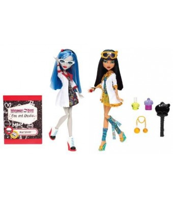 Monster High Mad Science Cleo De Nile and Ghoulia Yelps 2-Pack