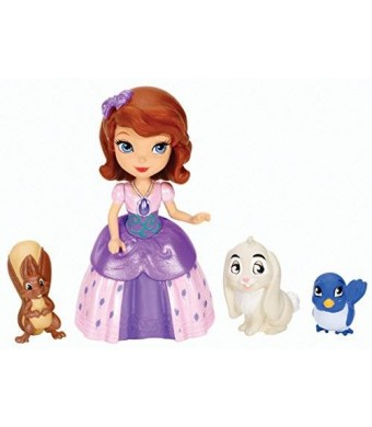 Mattel Disney Sofia The First Sofia and Animal Friends Fashion Doll Playset