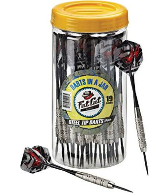 Fat Cat Darts in a Jar, Steel Tip Darts, 19 Grams (21 Pack)
