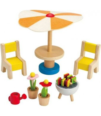 Hape Happy Family Doll House Furniture Patio Set