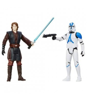 Star Wars, Mission Series, Coruscant Pack [Anakin Skywalker and 501st Legion Clone Trooper], 3.75 Inches