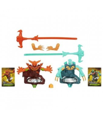 Beyblade Shogun Steel BeyWarriors Fire vs. Water Element 2-Pack