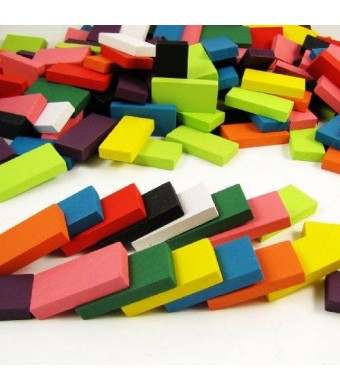 Toys & Child 240pcs Authentic Basswood Standard Wooden Kids Domino Racing Toy Game