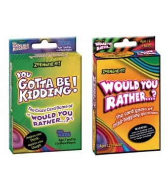 Zobmondo!! Would You Rather/You Gotta Be Kidding Card Game (Fun Pack)