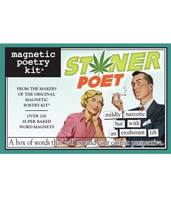 Magnetic Poetry - Stoner Poet Kit - Words for Refrigerator - Write Poems and Letters on the Fridge - Made in the USA