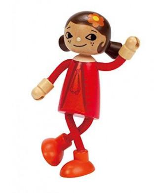 Hape Happy Family Poseable Wooden Mom Play Doll