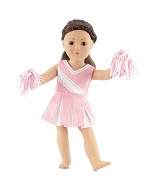 "Emily Rose Doll Clothes 18 Inch Doll Pink Cheerleader Outfit | Clothes Fit 18"" American Girl Doll 